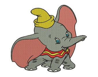 Dumbo Embroidery Design - 4 sizes and 6 formats