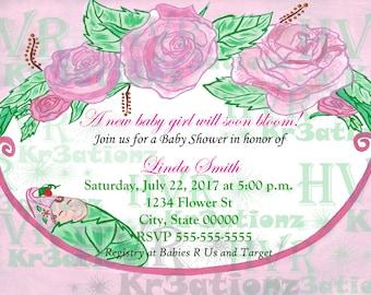 Baby Shower Digital Invitation Baby Girl