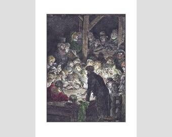 Thieves Gambling - A4 Doré coloured print