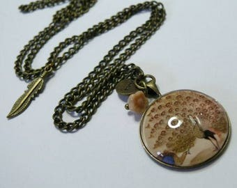 Mr Le Peacock of the Sahara Bronze necklace