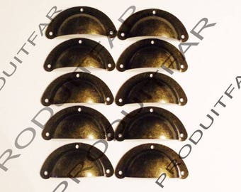 Lot 10 handle shell iron drawer furniture business Dresser Buffet record 50 mm