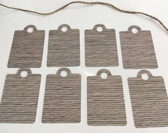 Set of 8 tags effect string 70mm x 45 mm