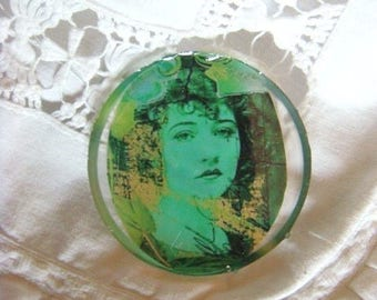 """Large Cabochon for your creations,""""filigree heart"""""""