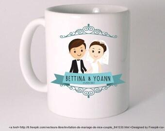 CERAMIC MUG personalized wedding special