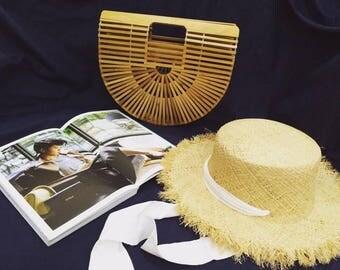 Pre-oder- Handmade bamboo handbag - trendy bamboo clutch ** The BEST Price **