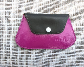 Pink patent leather wallet