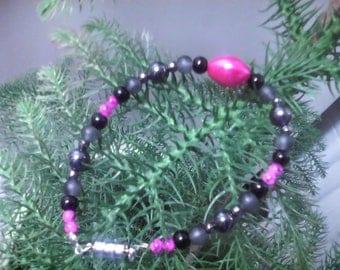 """Class"" magnetic hematite bracelet"