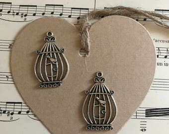 Lot vintage cage charms