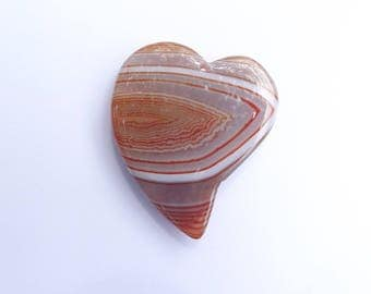 Pendant heart shaped agate dyed KITRI 748