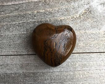 Tiger's Eye Small Puffy Heart