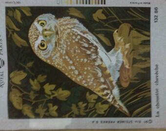 "Canvas embroidery""OWL OWL"" 45 x 60 cm """