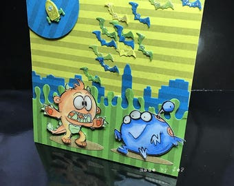 soft and funny card: the aliens are here!