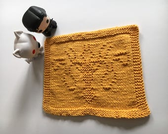Greyjoy Sigil Popcloth: Game of Thrones/A Song of Ice and Fire Original Pattern Dishcloth/Washcloth