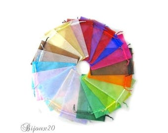10 assortment mix package jewelry gift pouch wedding set M03009 7x9cm organza pouches