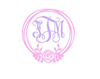 Rose Monogram Border