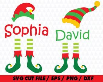 Elf svg, Elf monogram, Monogram svg, Xhristmas svg, Elf cricut, Christmas svg, Christmas cricut, Hat svg, Santa svg, Santa Cricut