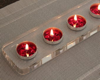 Tealight Candle Holder Centerpiece | Clear Edition | High Quality  Acrylic | Modern
