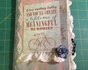 Blue-Vintage themed Travelers Notebook Junk Journal