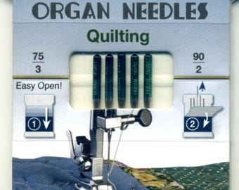 Needle Machines 75/90's, ORGAN NEEDLES X 5, a quilter, quilting, high-end, superior quality