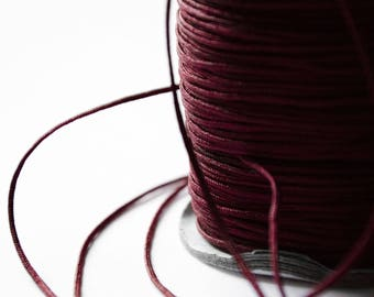 Wire Nylon braided Burgundy 1.5 mm x 1 meter