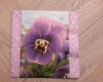 Set of 2 napkins for decoupage flowers