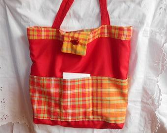 reversible canvas tote bag: Tote, shopping, beach, diaper bag