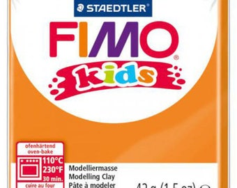 Kids FIMO clay orange No. 4