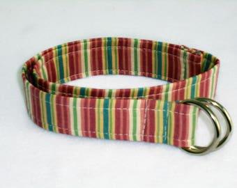 pastel stripe adjustable toddler belt
