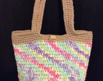 Crochet natural and colorful combo