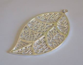 Leaf 925 sterling silver - silver