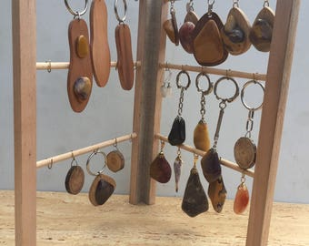 Solid wooden jewelry display