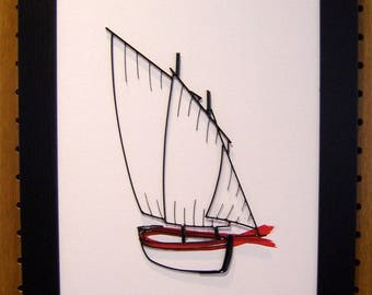 """picture Navy Sinagot """"er Guip Mab"""" red and black framed 30 x 40"""