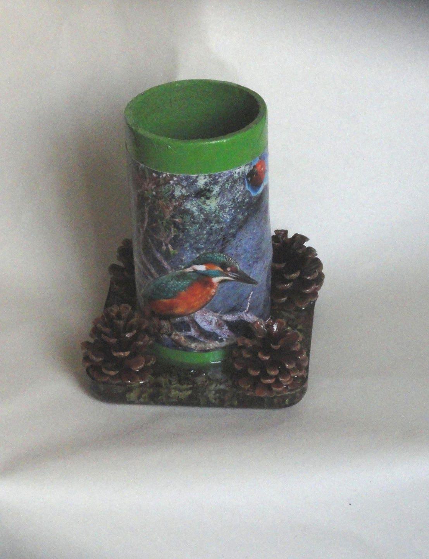 Pot crayons ustensiles de cuisine vase en carton et - Pot a ustensiles de cuisine ...