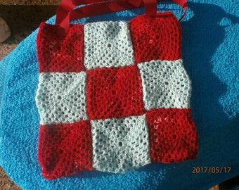 retro crochet bag