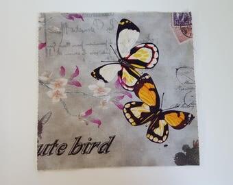 Patchwork butterflies fabric coupon