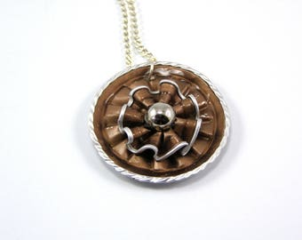 Coffee color capsule necklace brown