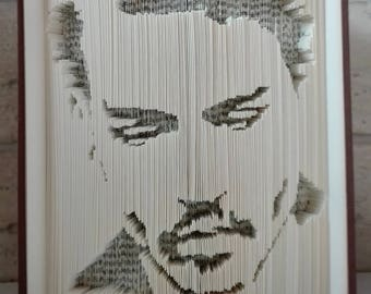Folded book cut Johnny Depp
