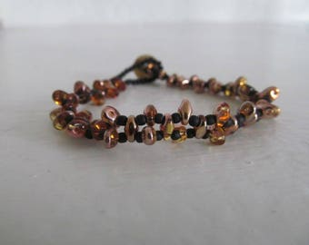 Super cute bracelet duo and black seed beads