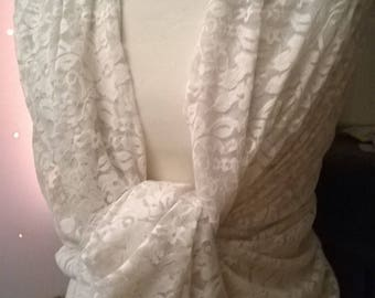 Cream color lace shawl