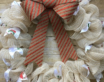 Cozy Snowman Wreath