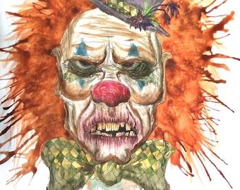 Grumpy Clown - Print