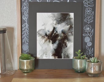Black and White with Silver accents - 8x10 in 11x14 matting