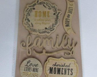 Wooden decal stickers