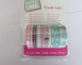 Set of 4 adhesive washi tape