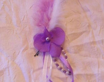 bun Orchid purple and white