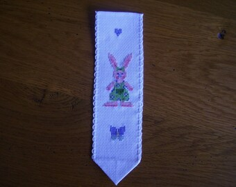 Pink Bunny bookmark