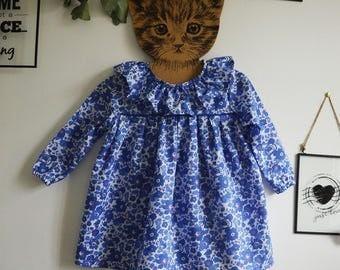 Dress liberty betsy Lavender sleeves long