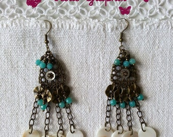 Gypsy Bohemian unique Girl Collection earrings
