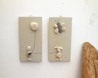Decorative painting with pebbles baby room