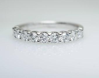 Diamond Wedding Band .63CTW in 14k White Gold